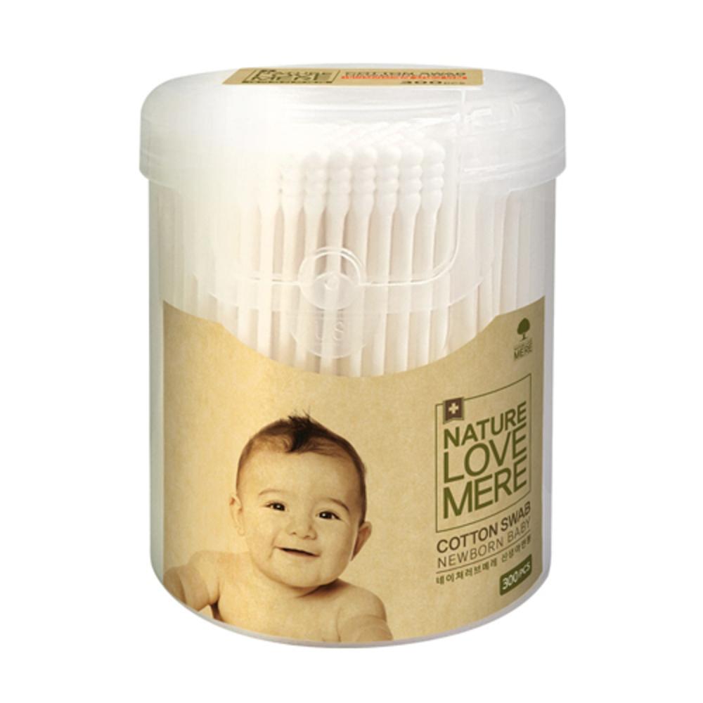 네이쳐러브메레 신생아 면봉 원통형, 300개입, 1개