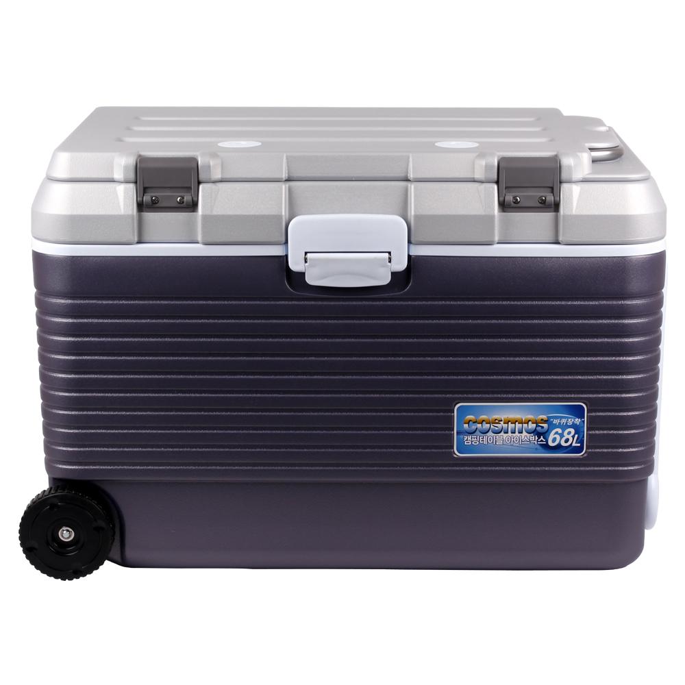 코스모스 레저 테이블겸용 아이스박스 바퀴형, WJ-768, 68L