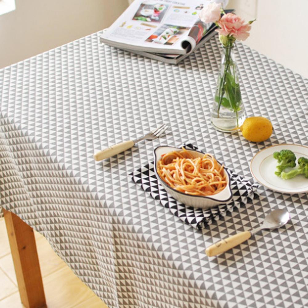 리빙팝 심플 트라이앵글 패턴 식탁보, B, 100 x 140 cm