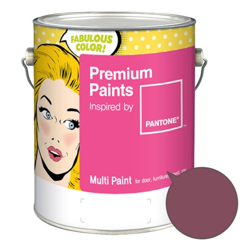 노루페인트 팬톤멀티 에그쉘광 스윗자주계열 페인트 4L, 르네상스 로즈(18-1613)