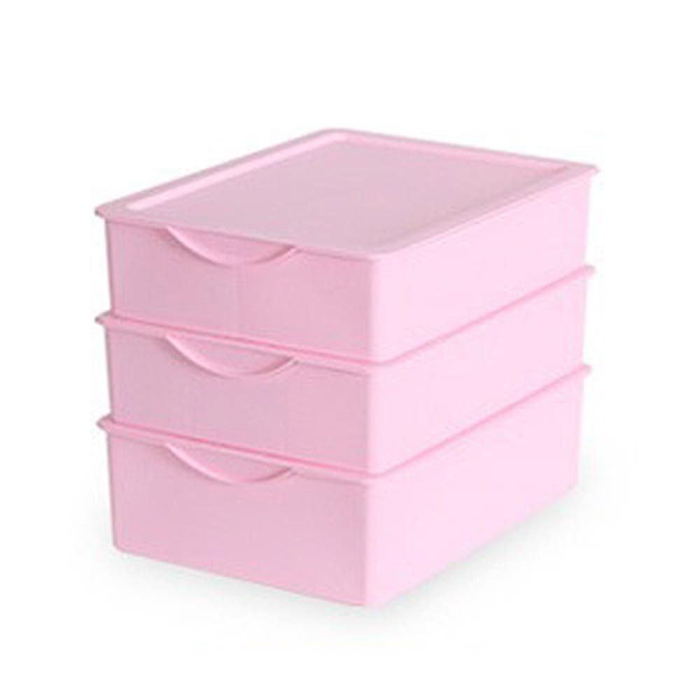 리빙해피 키친아트 속옷정리함 세트 핑크, 1세트