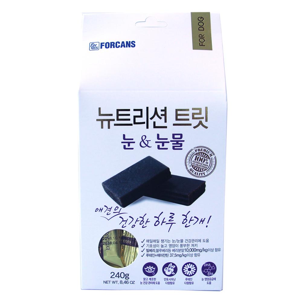 포켄스 뉴트리션 트릿 눈 & 눈물 강아지 영양제, 240g, 1개