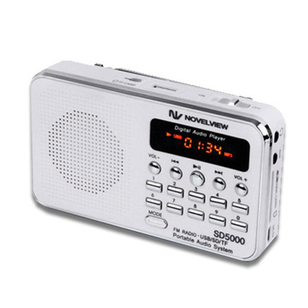 노벨뷰 휴대용 미니 스피커 효도 라디오 SD5000, 혼합 색상