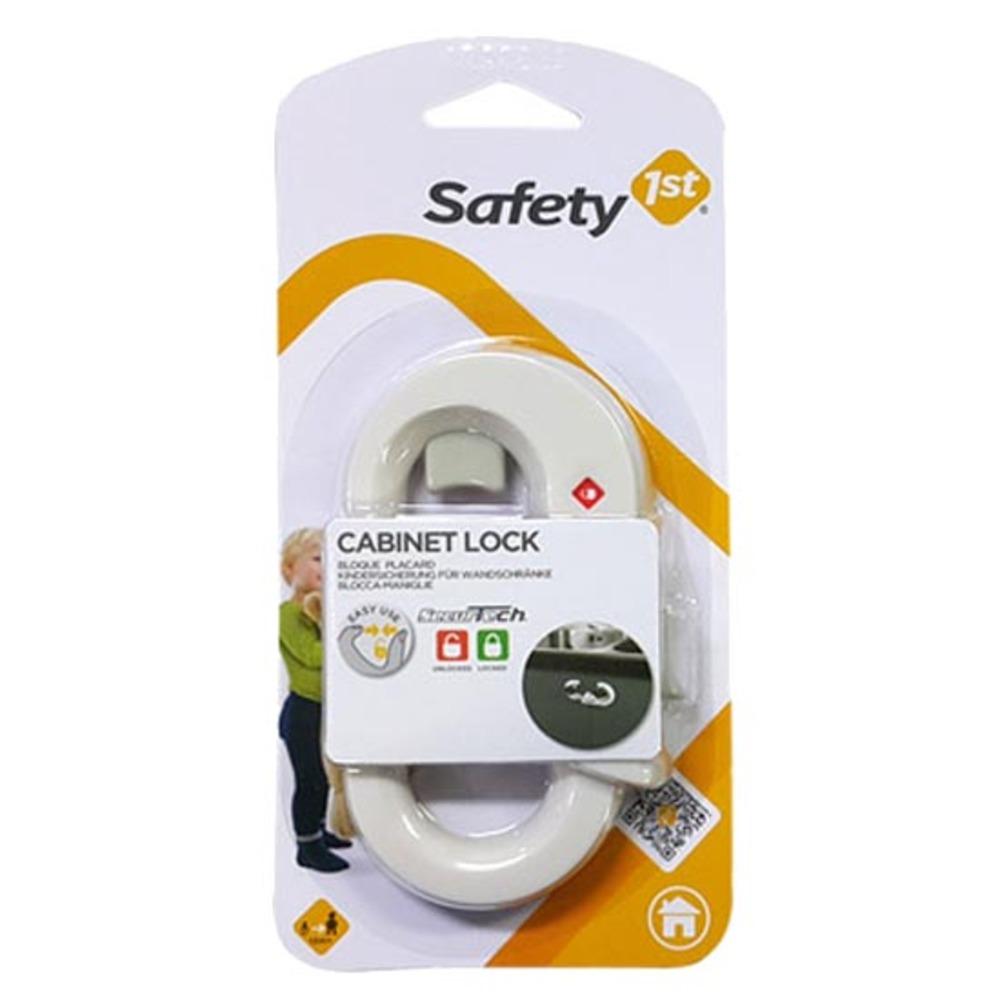 세이프티퍼스트 서큐어테크 캐비닛 락 유아 안전 잠금장치 고리형, 화이트, 1개