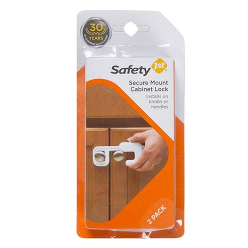 세이프티퍼스트 서큐어마운트 캐비닛 락 유아 안전 잠금장치, 화이트, 2개입