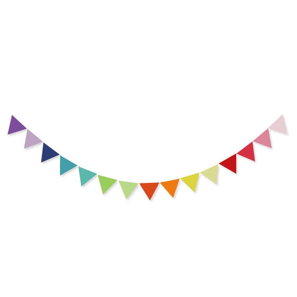 쓱싹 삼각파티 레인보우 플래그 가랜드, 혼합 색상