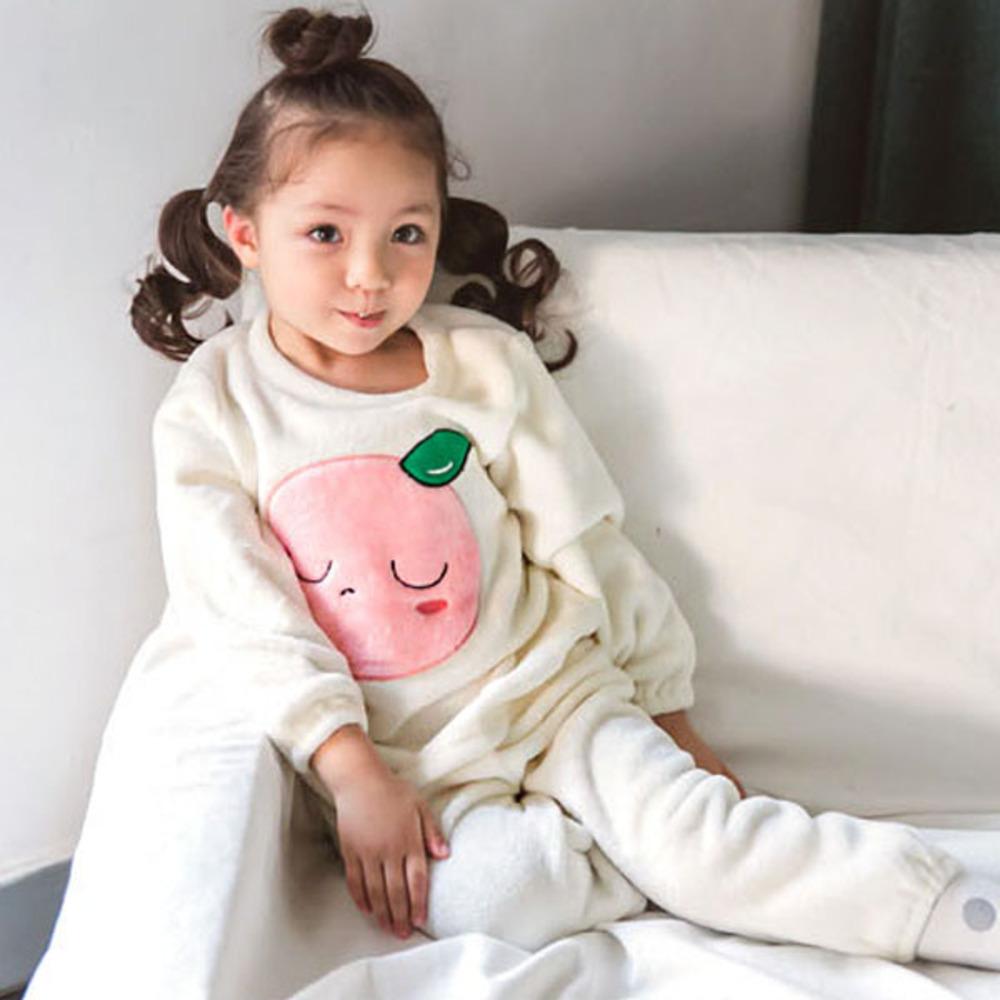 아이꼬 여아용 피치 긴팔 수면잠옷