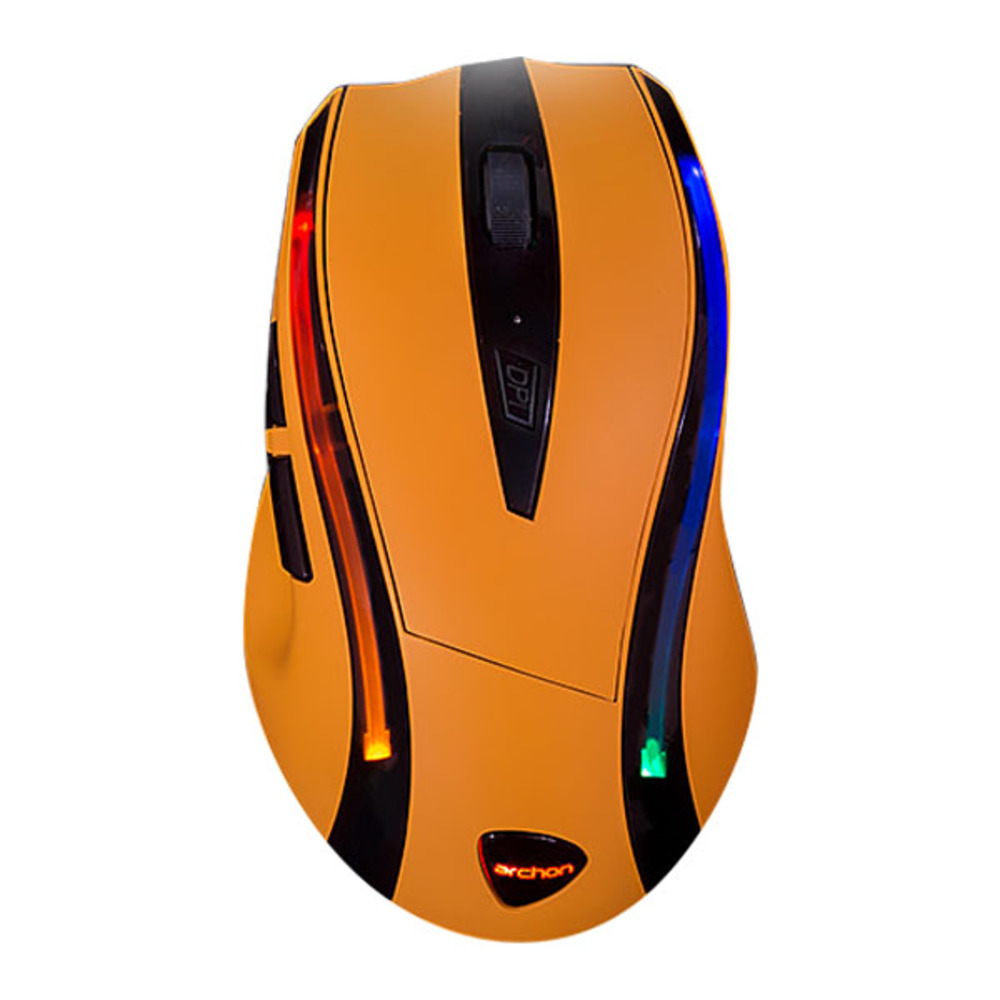 아콘 옵티컬 3325 게이밍 마우스 AG40, 옐로우