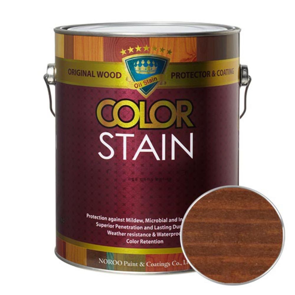 노루페인트 올뉴 칼라스테인 페인트 3.5L, 월넛5