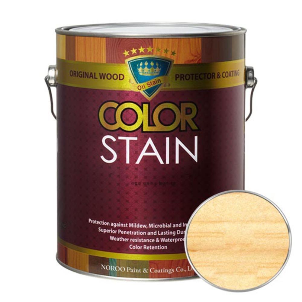 노루페인트 올뉴 칼라스테인 페인트 3.5L, 투명
