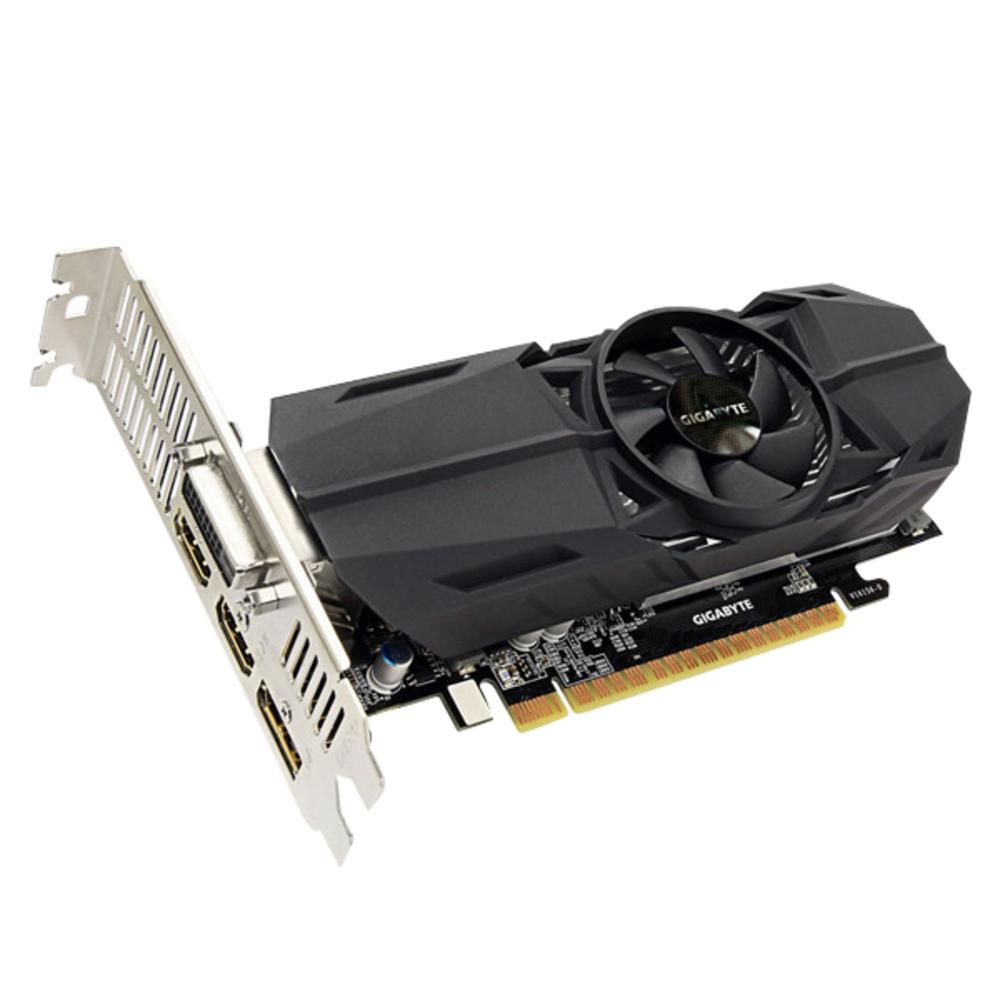 기가바이트 지포스 그래픽카드 GTX1050 Ti UD2 D5 4GB Nano LP, 단일 상품
