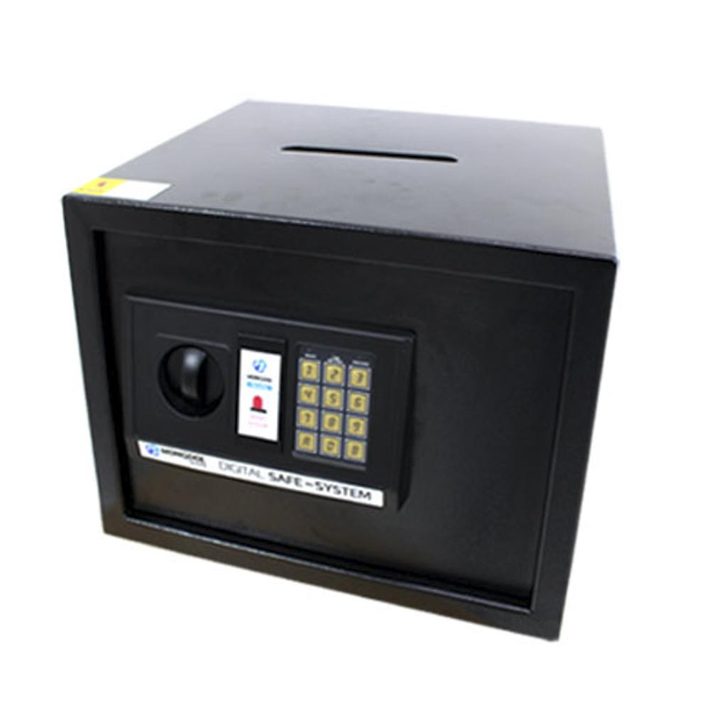 오에이데스크 디지털 충격 감지 안전 금고 30D 지폐 투입구, 블랙