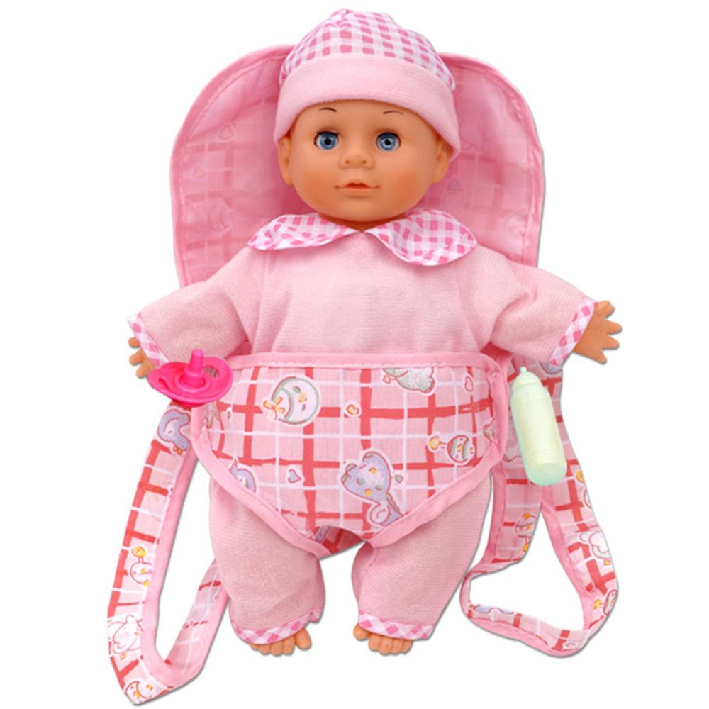 오즈토이 소리나는 베베 어부바 아기인형, 분홍