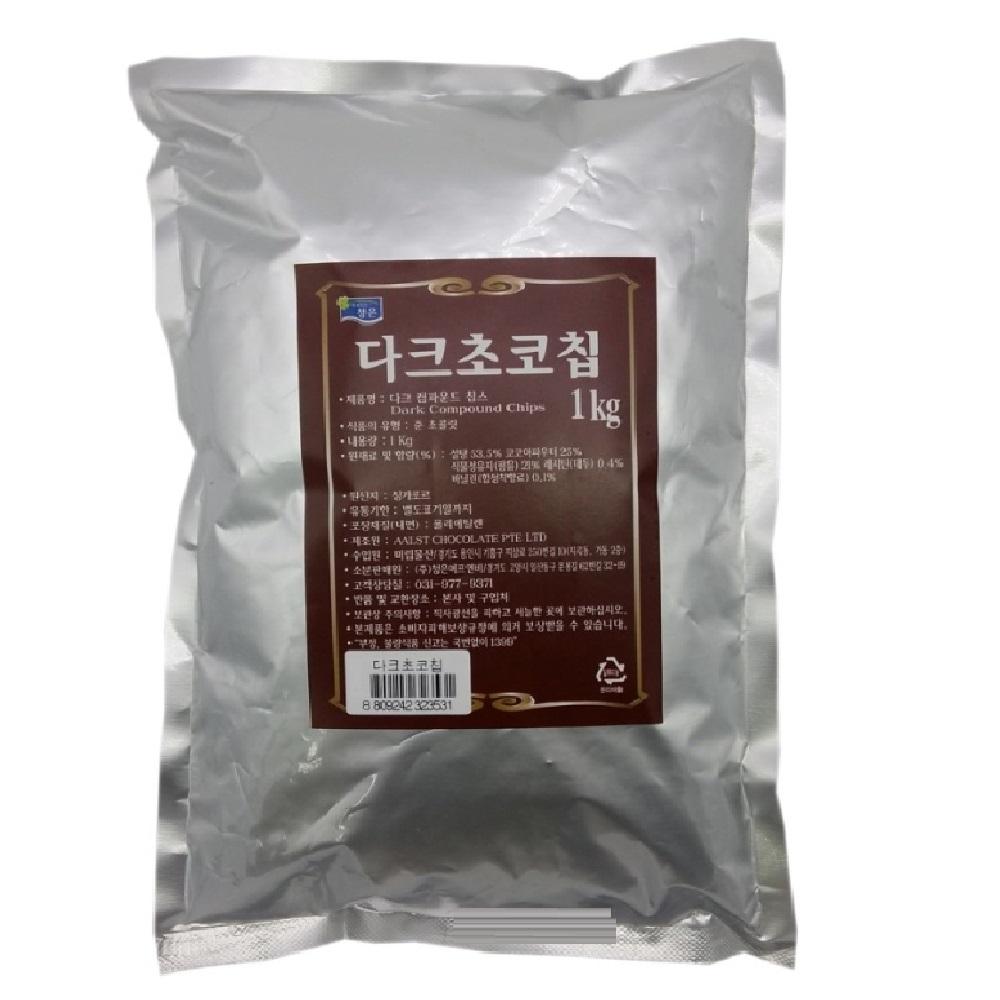 청은 다크 초코칩, 1kg, 1개