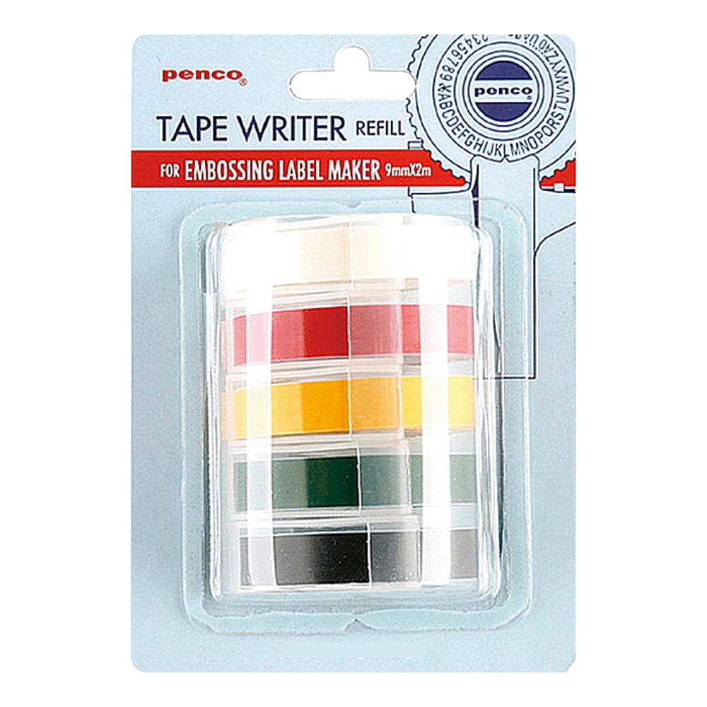 하이타이드 펜코 다이모 라벨기 리필 5색상 테이프 세트, 혼합 색상