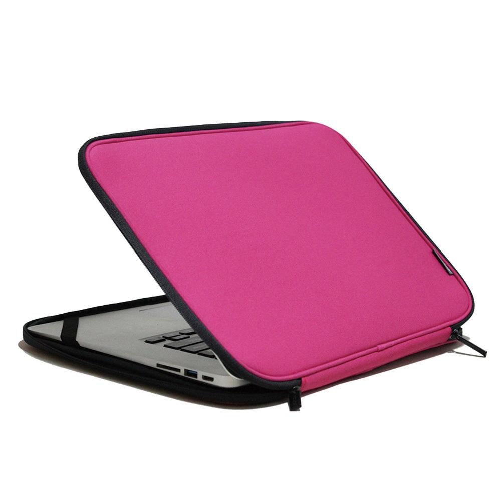 인트존 투톤 지퍼 노트북 파우치 INTC-215X, 체리 핑크, 15.6in
