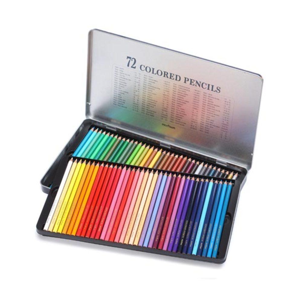 문화 색연필 틴케이스, 72색