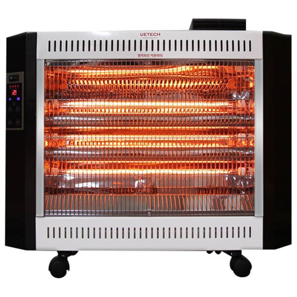 유이테크 원적외선 카본 히터 UCH-E3300F, 화이트 + 블랙