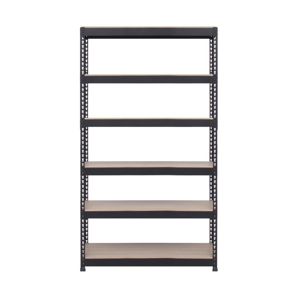 스피드랙 6단 조립식 앵글선반 800 x 450 x 1800 mm, 블랙