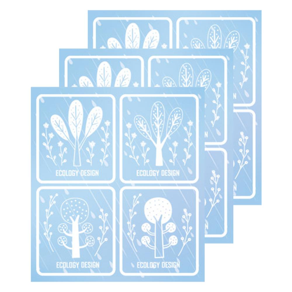 환타스틱스 투명 논슬립 미끄럼방지 스티커 행복나무 15401, 3개입