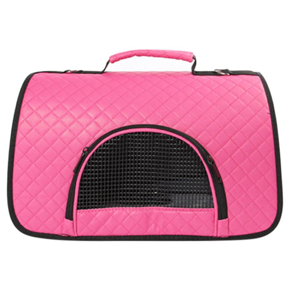 핑크망고 격자무늬 반려동물 이동가방, C