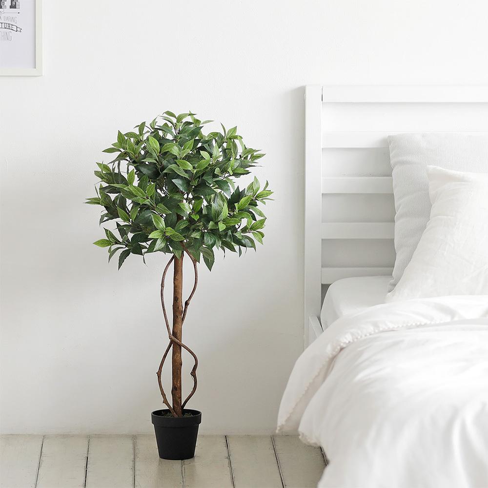룸앤홈 월계수 조화나무 85, 혼합 색상, 1개