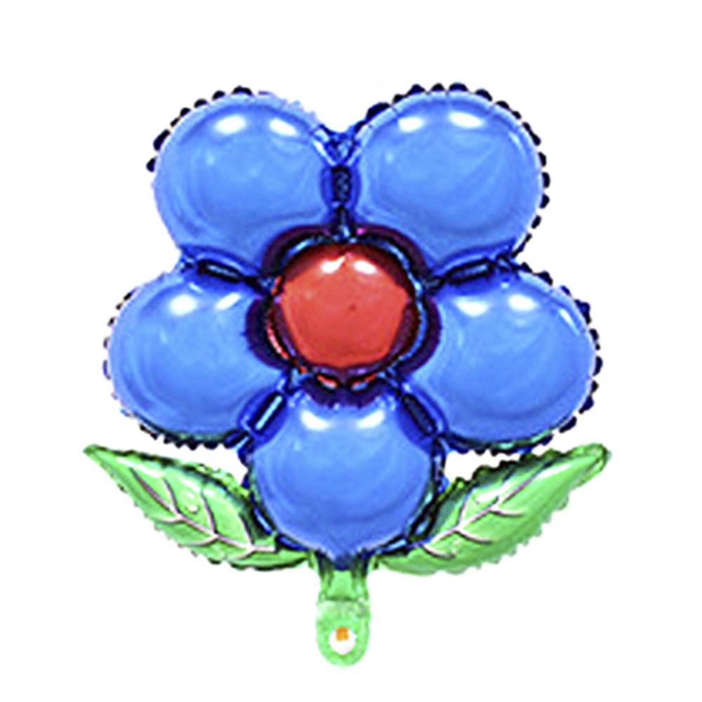 파티팝 파티용품 플라워 풍선, 블루, 20개입