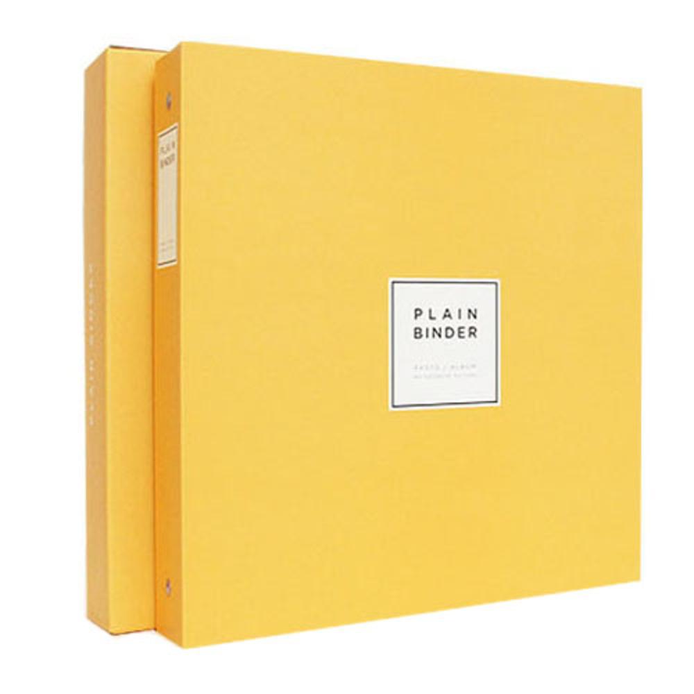 앨범샵 접착식 흑색 내지 플레인 바인더 포토앨범, 옐로우, 40매