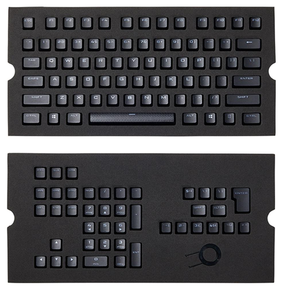 커세어 PBT Double Shot Keycaps, CORSAIR PBT Double shot Keycaps, Black