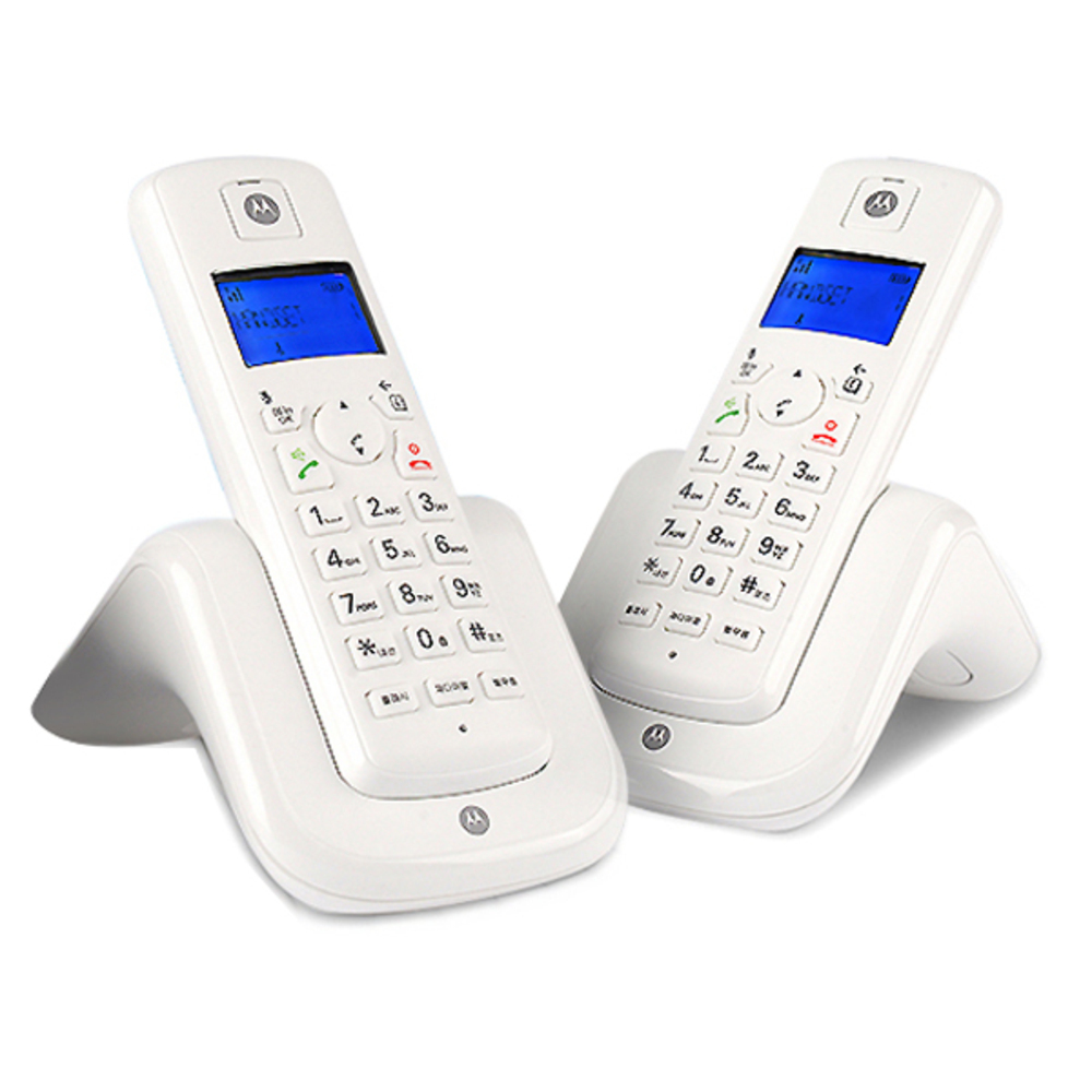모토로라 디지털 무선전화기 Dual T201A, T201A(화이트 + 화이트)