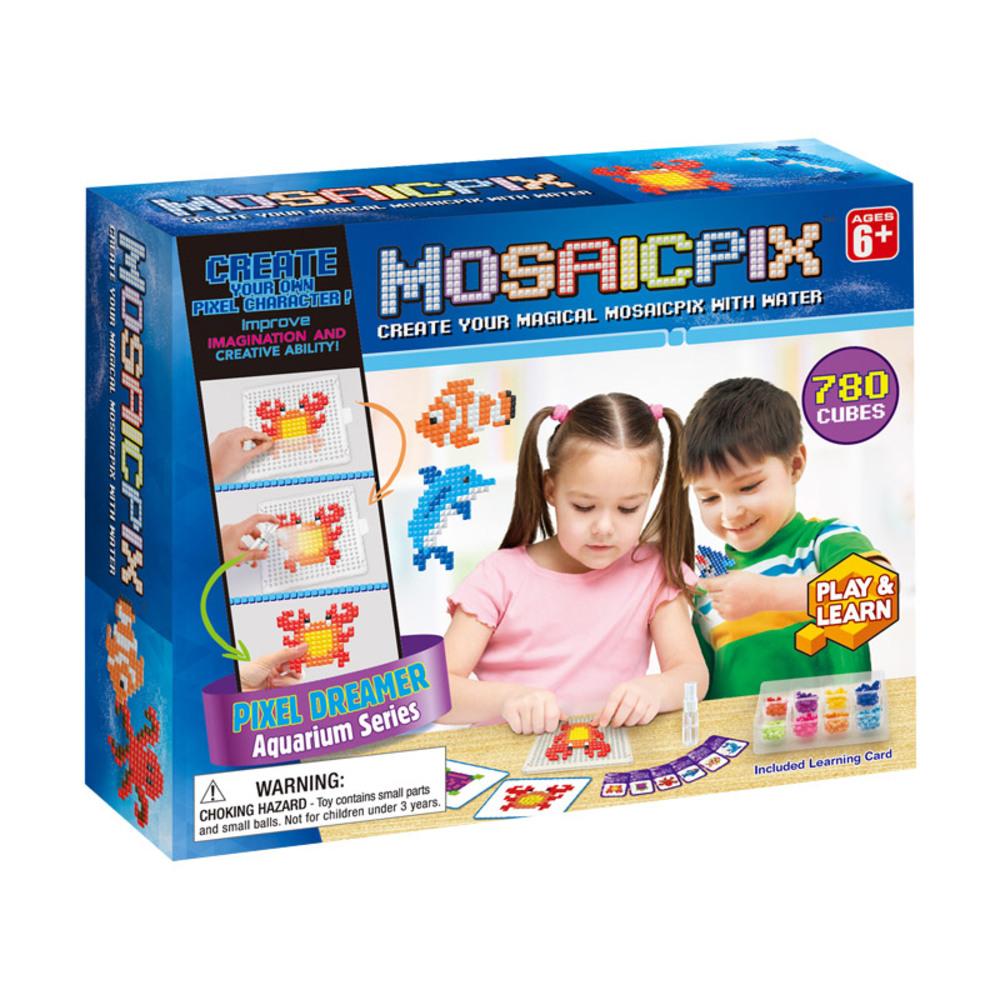 MOSAICPIX 수족관 시리즈 유아비즈DIY세트 BD55001, 혼합 색상