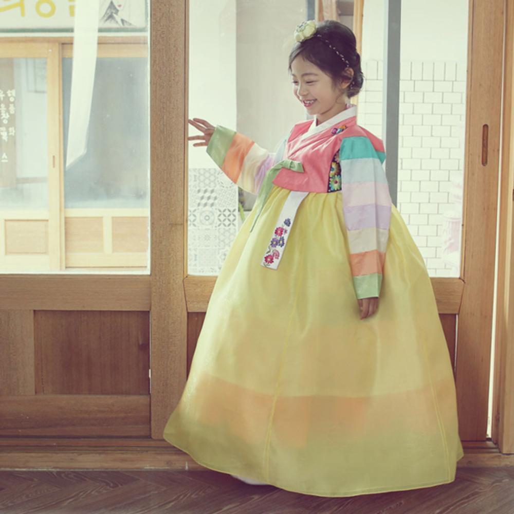 예닮 여아용 예슬아 한복세트 + 복주머니 랜덤 발송