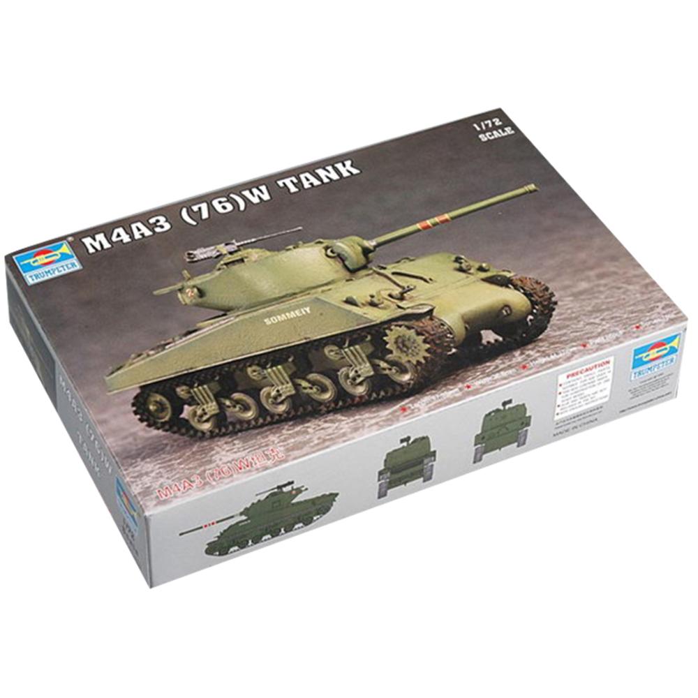 Trumpeter 1:72 US M4A3 76 W Tank 프라모델, 1개