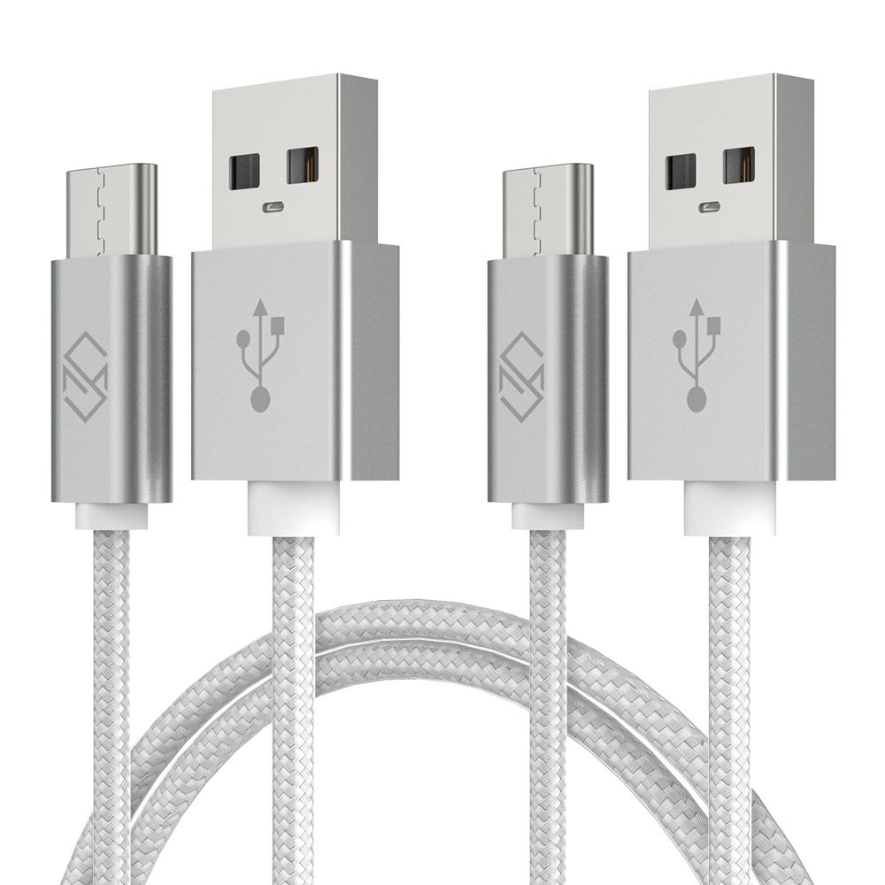 신지모루 메탈릭 USB C타입 고속충전 케이블 2m, C타입 CP-실버(2M), 2개입