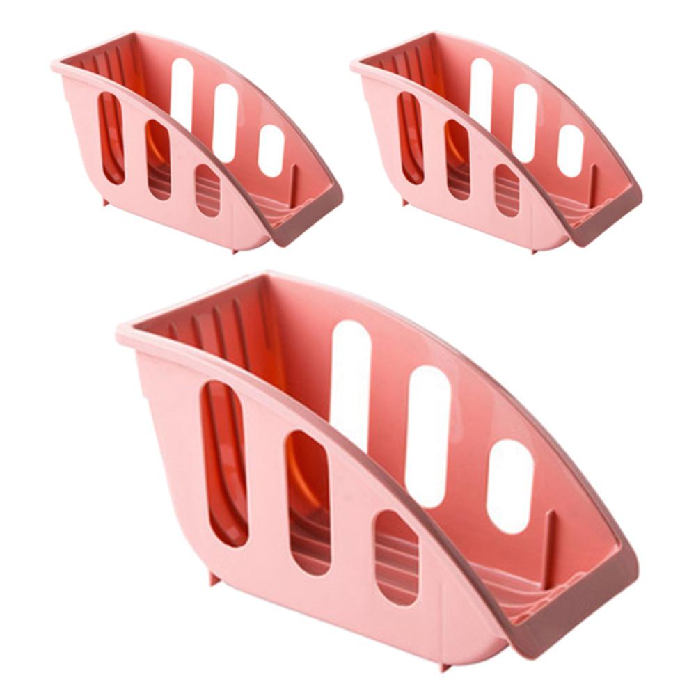 블럭마트 주방 접시꽂이 핑크, 3개입