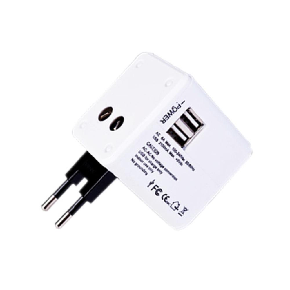 딘 초고속 USB 여행용 멀티어댑터 2.1A 화이트, 1개