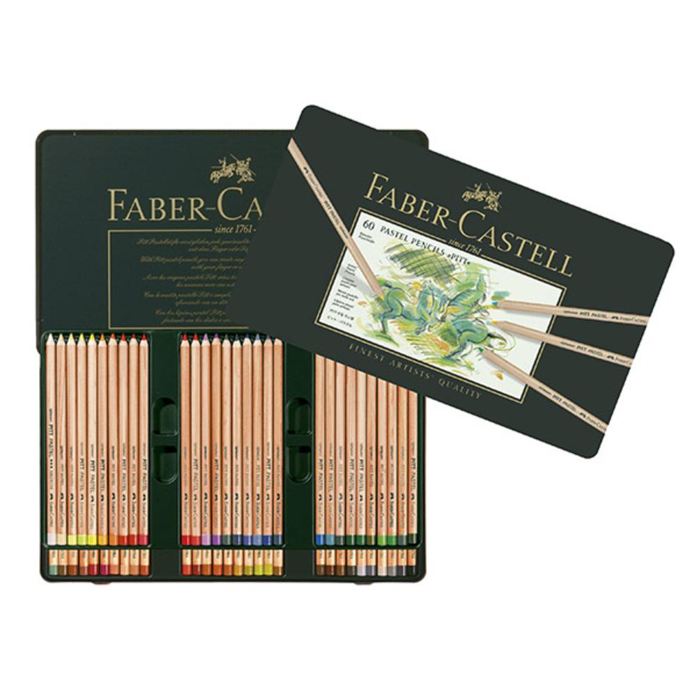 파버카스텔 PITT 연필 파스텔 세트 TIN 112160, 60색