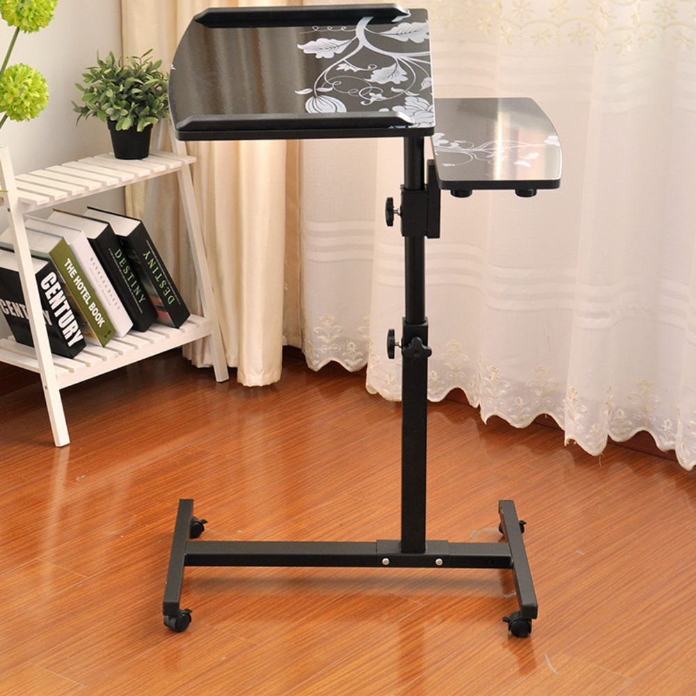 OMT 이동식 침대 노트북 테이블 거치대 선반 ONA-402 사이드테이블, 블랙