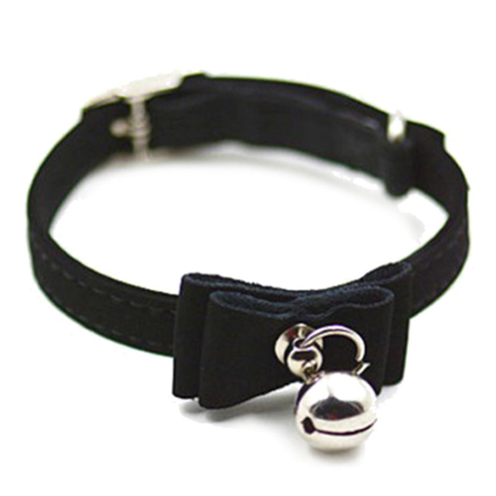 OCSOSO 고양이 방울목걸이, 검정, 1개