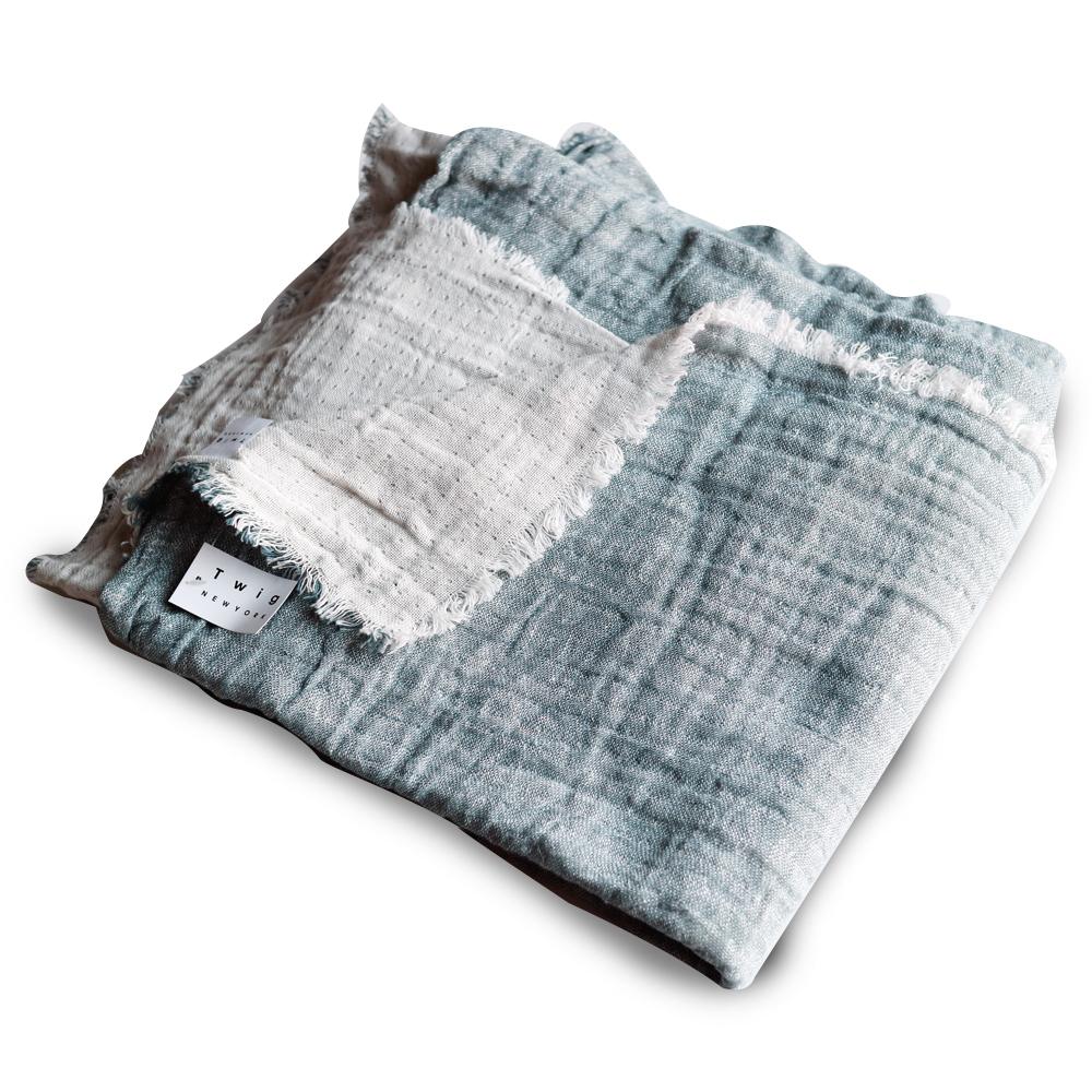 트위그뉴욕 어나더 소호 테이블 패브릭 양면거즈타올 식탁보, 라이트 블루, 140 x 170 cm