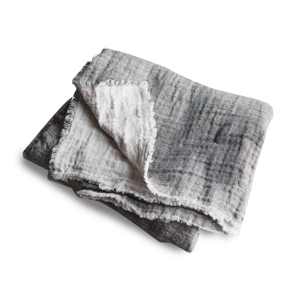 트위그뉴욕 어나더 소호 테이블 패브릭 양면거즈타올 식탁보, 다크 그레이, 140 x 170 cm
