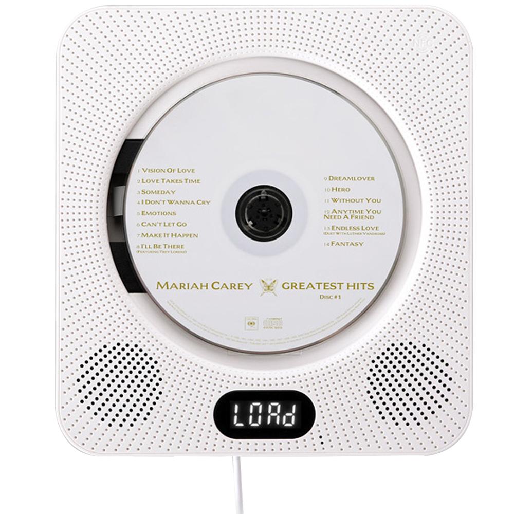 인비오 벽걸이용 CD DVD 블루투스 플레이어 WM-01BT, 화이트