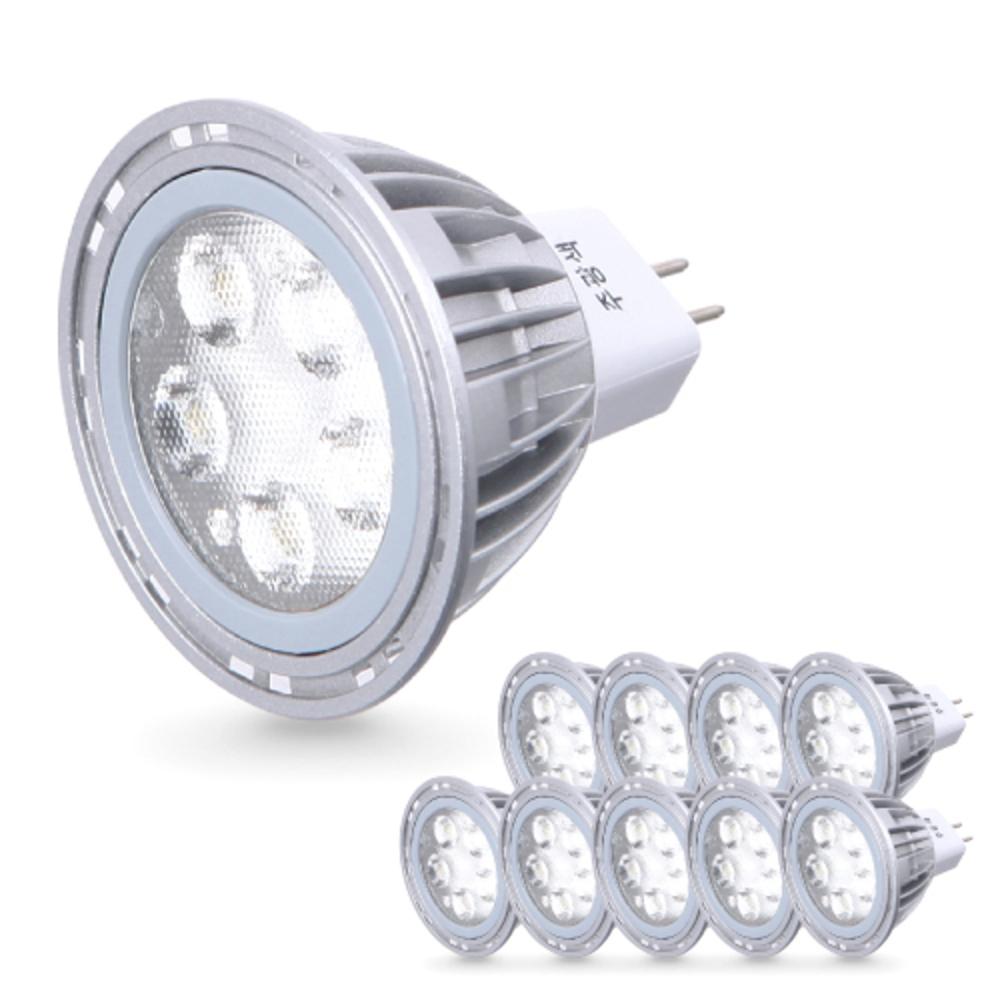 씨티오 LED MR16 램프 5W 10p, 전구색(오렌지색)