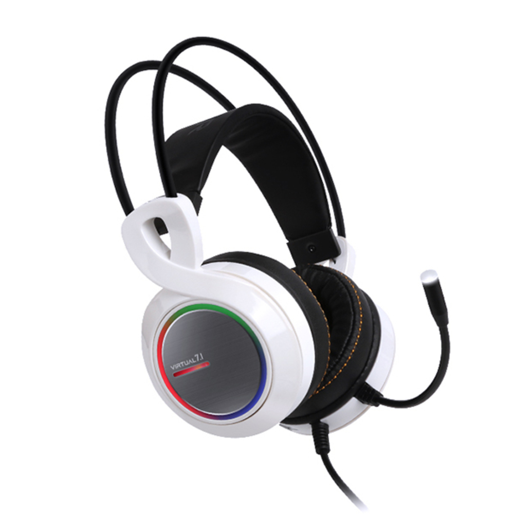 앱코 HACKER 버추얼 7.1 진동 RGB 게이밍 헤드셋 B770, WHITE