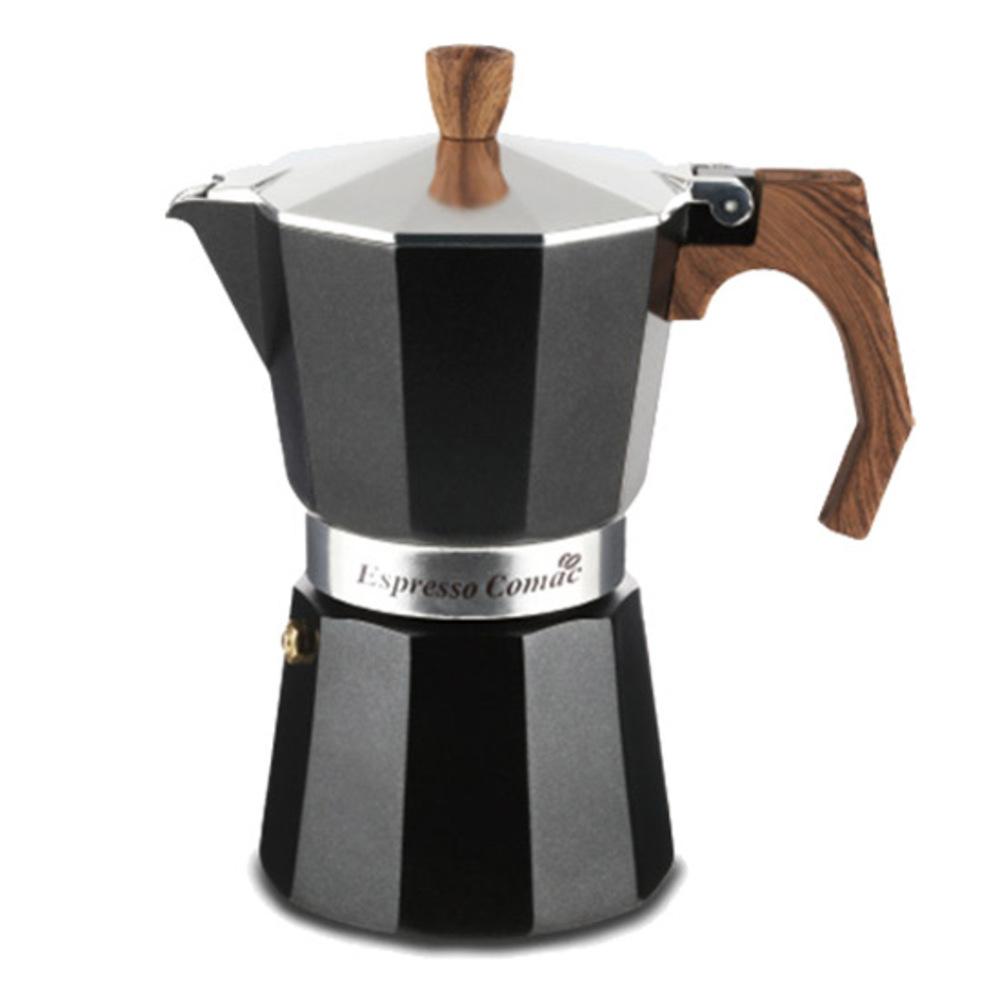 코맥 에스프레소 커피 메이커 모카포트 6컵, 혼합 색상, 1개