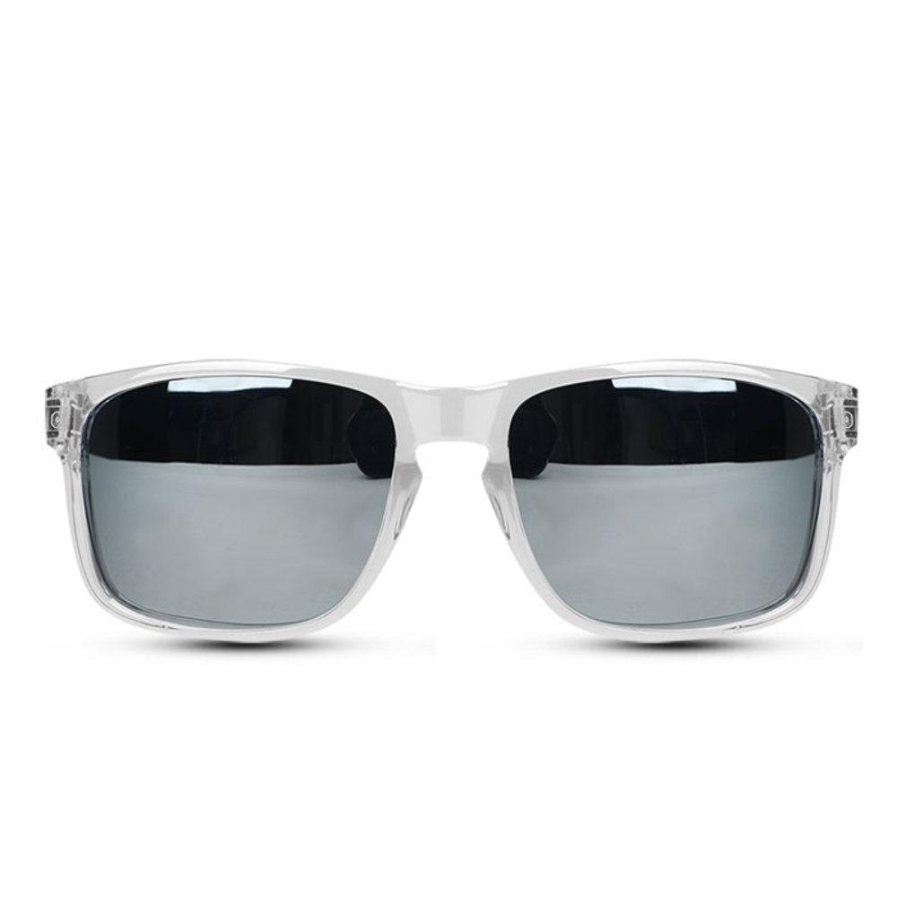오클랜즈 편광 스포츠 선글라스 K310, 클리어프레임 + 실버밀러편광렌즈