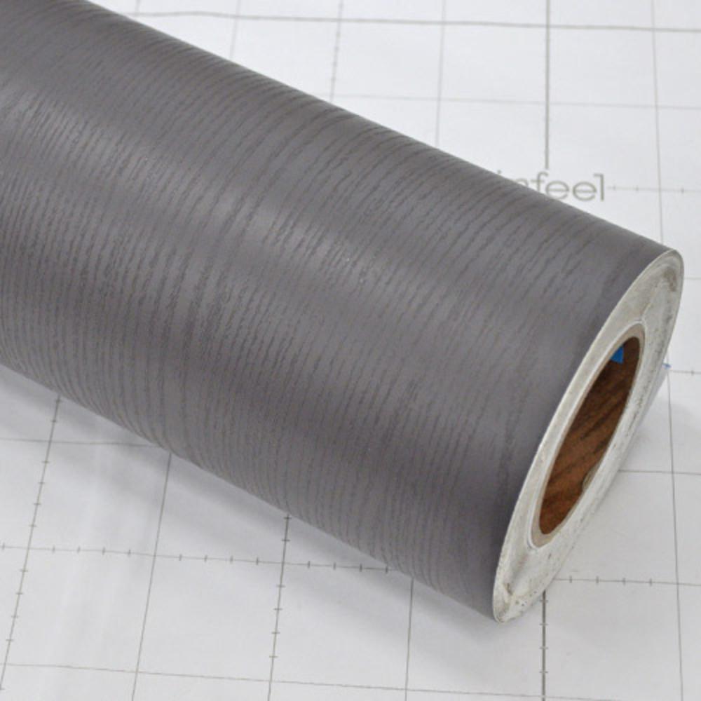 현대시트 에어프리 접착식 컬러 고급 비방염 무늬목시트지, SD850(다크그레이 우드패턴)