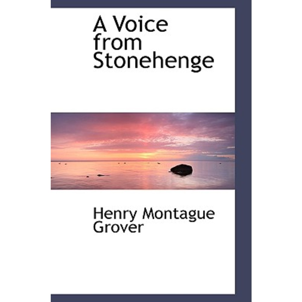 A Voice from Stonehenge Paperback, BiblioLife