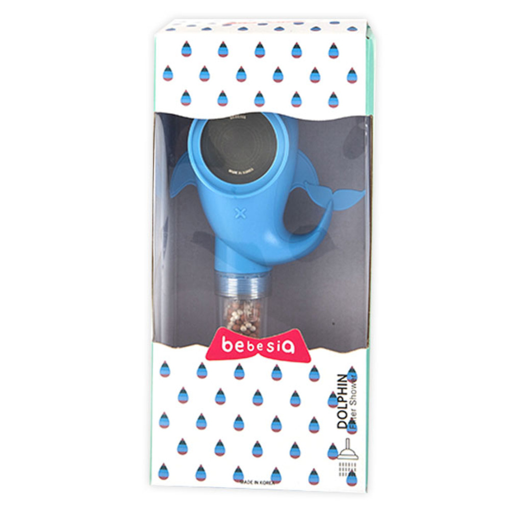 베베시아 돌고래 필터 샤워기 블루, 1개