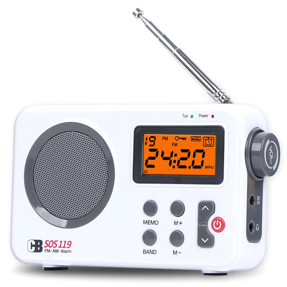 코비 재난대비 휴대용 알람시계 라디오 SOS119, 혼합 색상